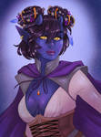 Starry skin tiefling - commission