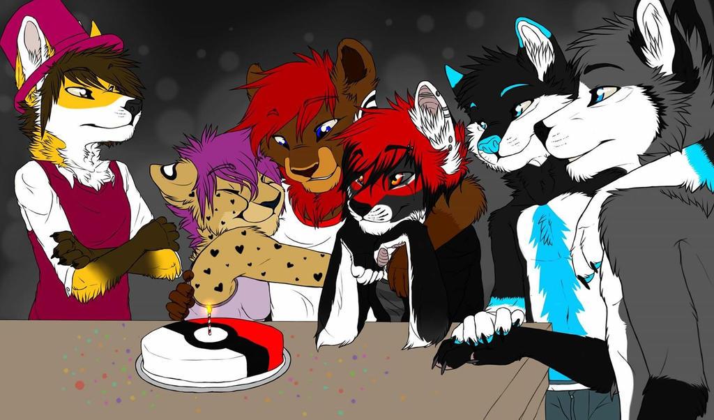 Koda party by Zidanewolf