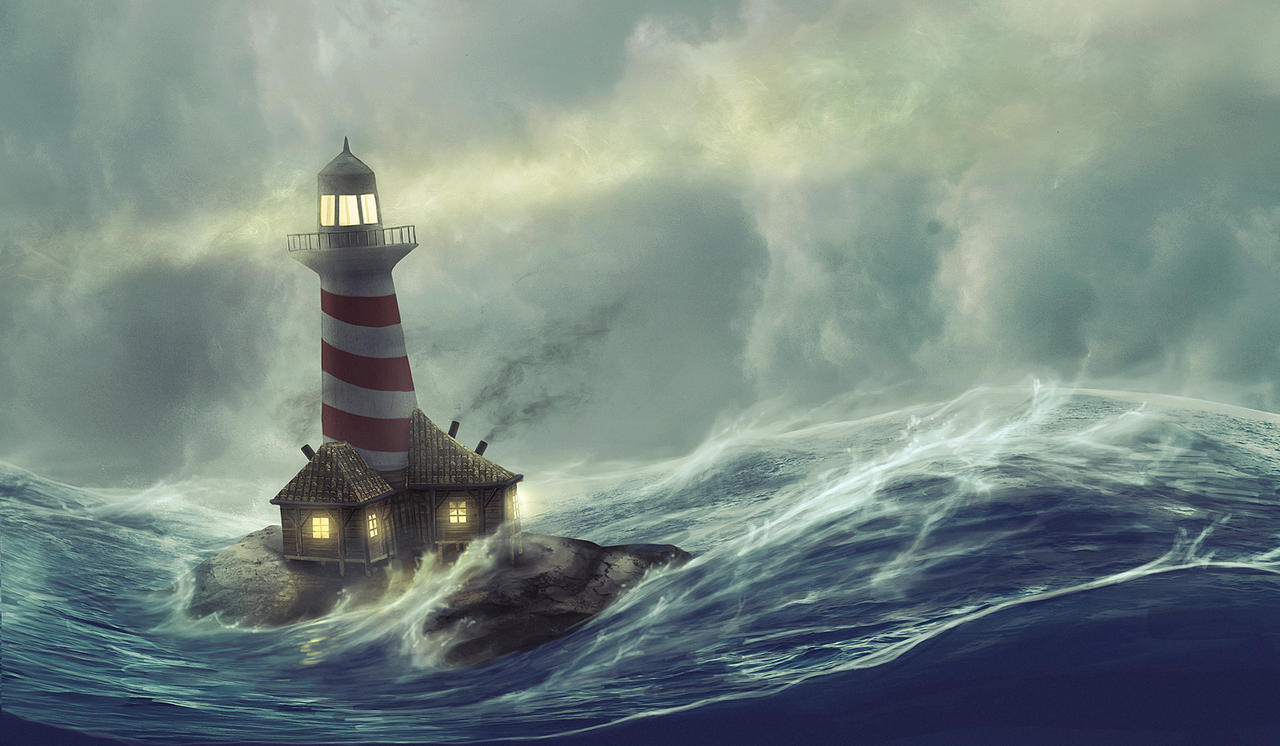 Lighthouse storm by HjalmarWahlin on DeviantArt