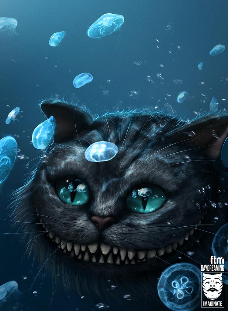 Cheshire Cat Underwater by 1MAGINATE
