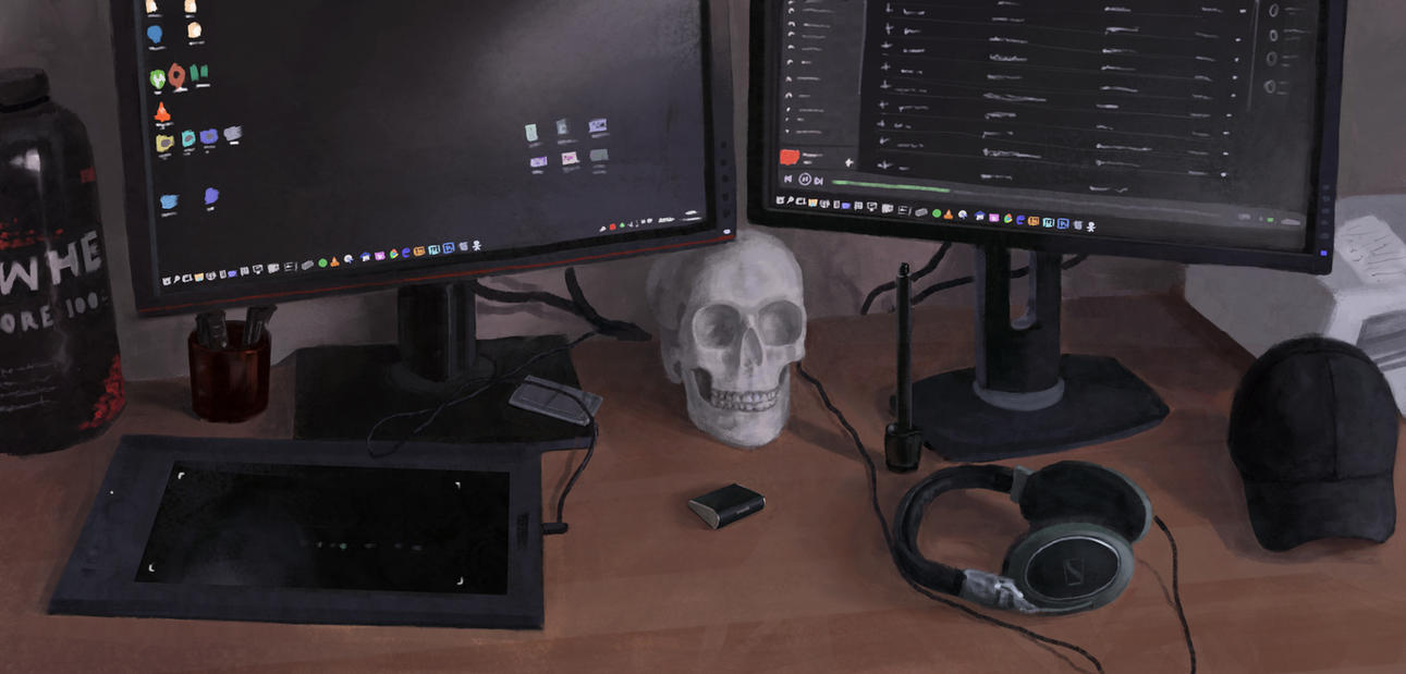 Still Life, My desk. by HjalmarWahlin