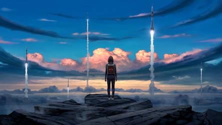 Blue sky rockets