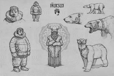 INUKSUK Character sketches
