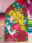 Princess Peach Stained Glass from Mario Odyssey by dodark