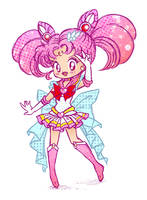 Sketchy Senshi - Super Sailor ChibiMoon by Keah