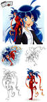Miraculous Ladybug Sketches by Keah