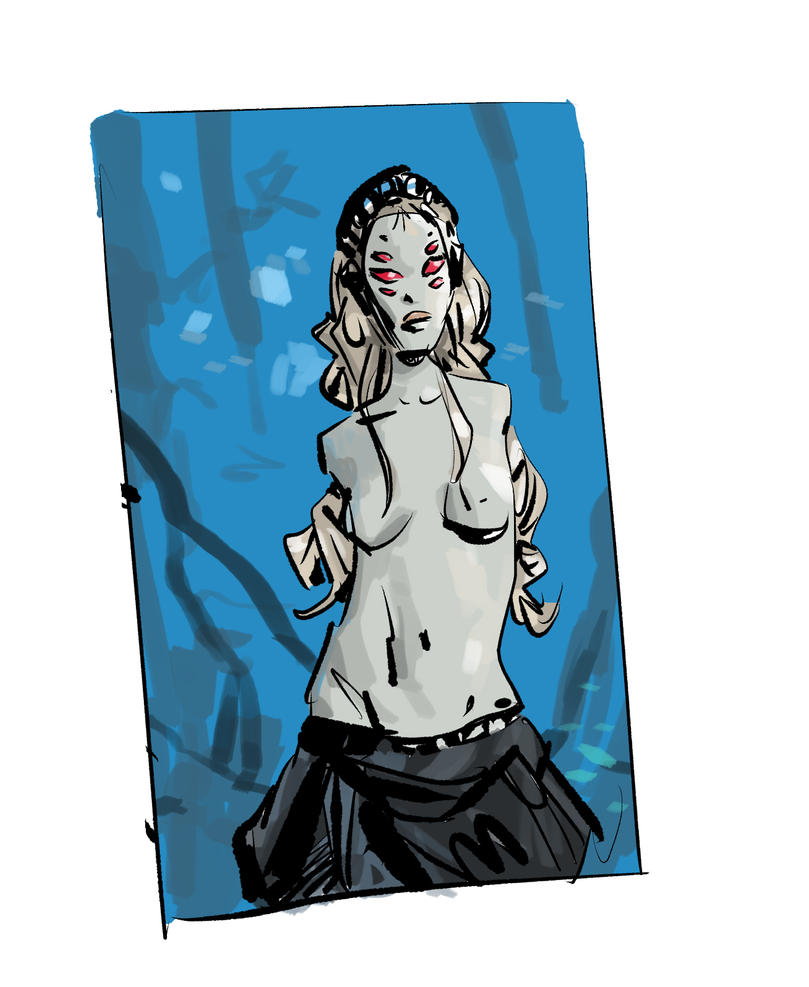 Quick Sketch form Saga, The Stalk by shutendogi