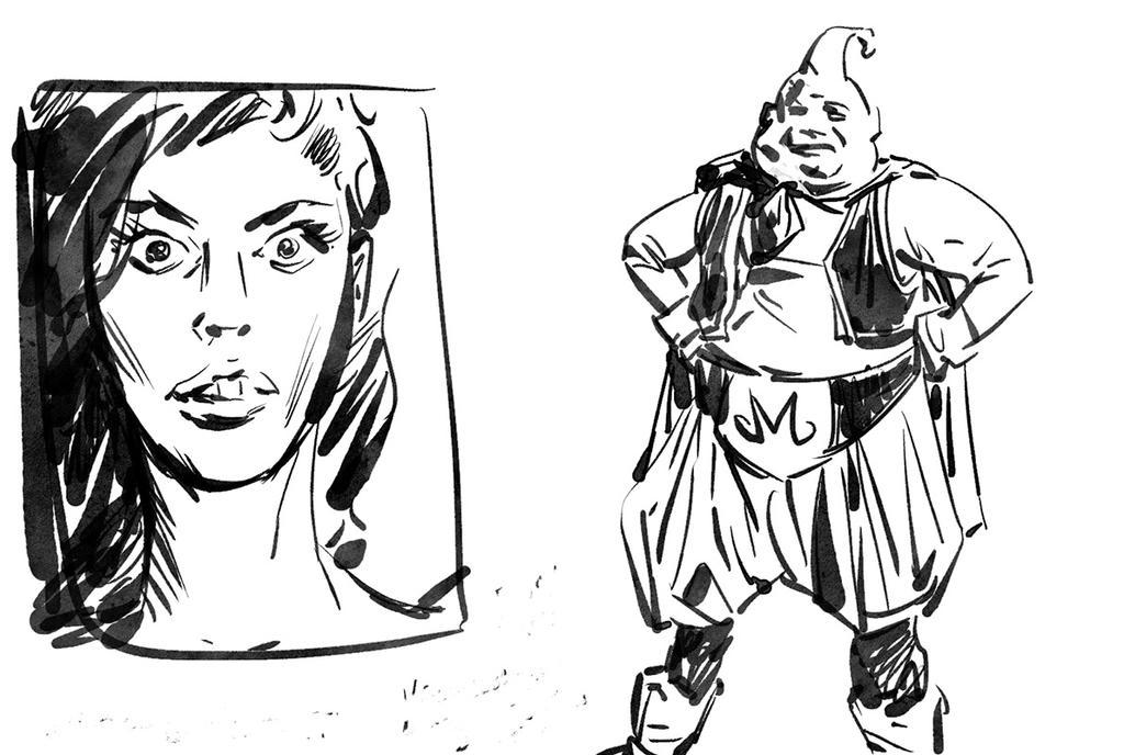 Superfast Ink Sketch by shutendogi