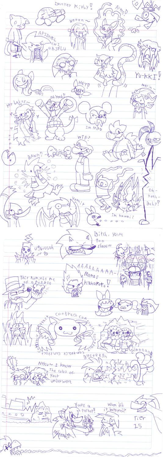 Nonsense Random Doodles by GlassesGator