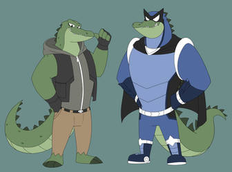 Victor-crocodile superhero by GlassesGator