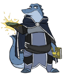 Azuros the mage gator by GlassesGator