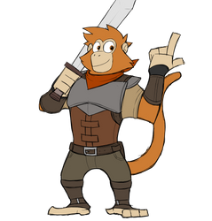 Andrew the mercenary monkey by GlassesGator