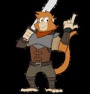Andrew the mercenary monkey