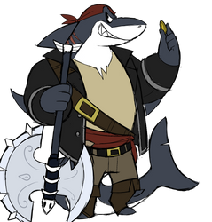 Morgan the pirate shark by GlassesGator