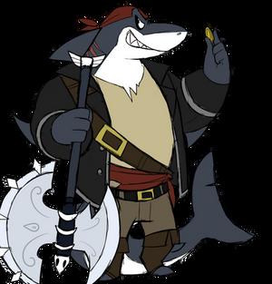 Morgan the pirate shark