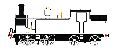 LSWR Drummond M7 4-4-0T Base (Free to use) by GreyhoundProductions