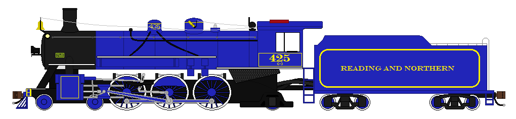 Reading and Northern #425 (USLW Trainz Render) by