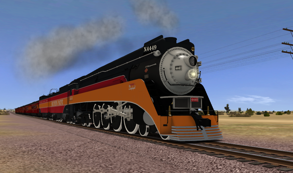 SP GS-4 4449 Daylight Traveling Down The Mojave by