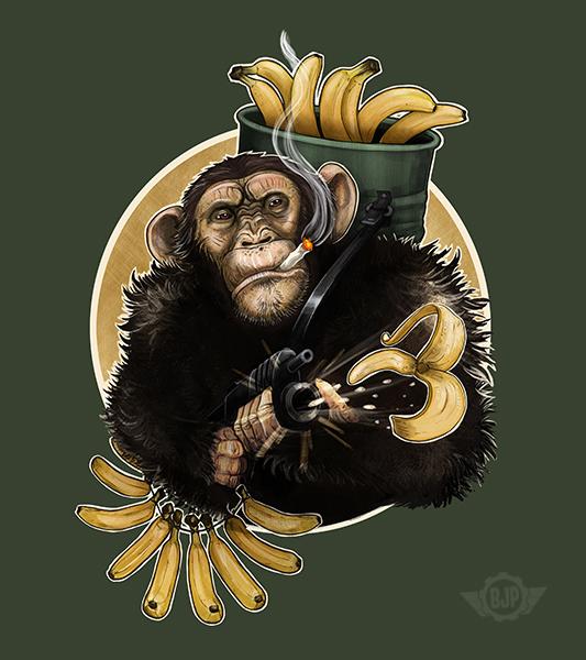 War Monkey by blancaJP
