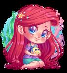 Chibi Ariel from Wifi Ralph
