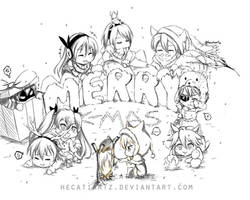 Akame ga Kill - Night Raid Chibi Sketch by HecatiArtz