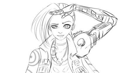 League of Legends - Odyssey Jinx Sketch