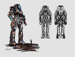 Battlesuit Zero sketch