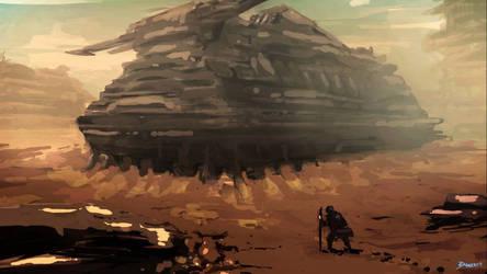 Desert base scene concept