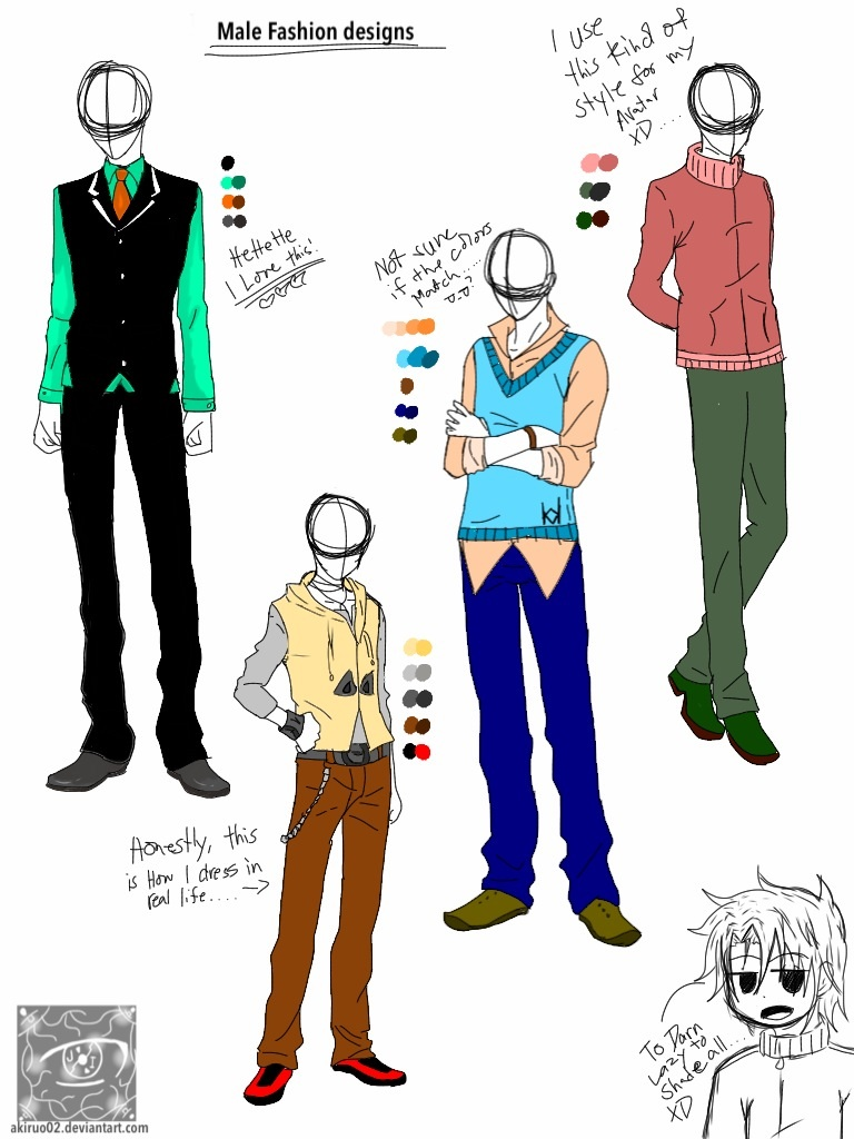 Male clothing designs batch 1 by Akiruo02 on DeviantArt