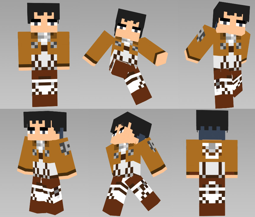 minecraft skin levi by drump191 on deviantart