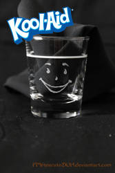* Kool-Aid face shot glass