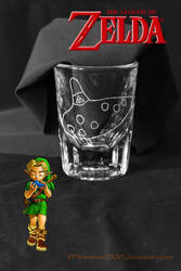 Ocarina of Time shot glass