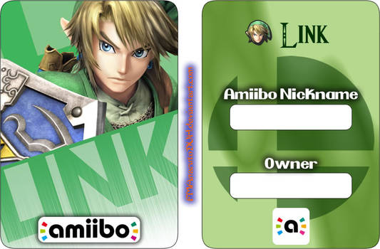 Amiibo Card Example - Link