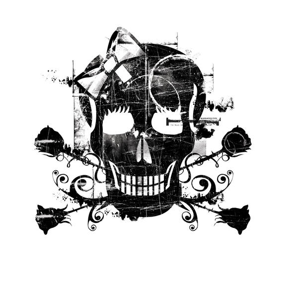 Skull T-Shirt by qtopia