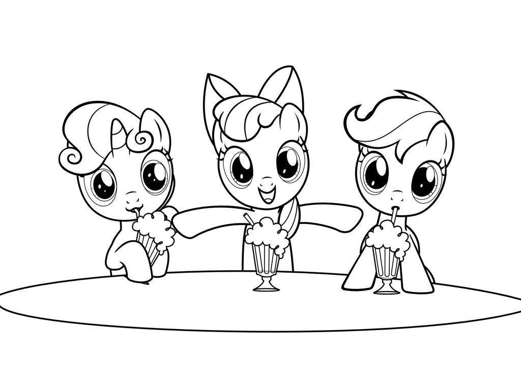 My Little Pony Coloring Pages Cutie Mark Crusaders Coloring Pages