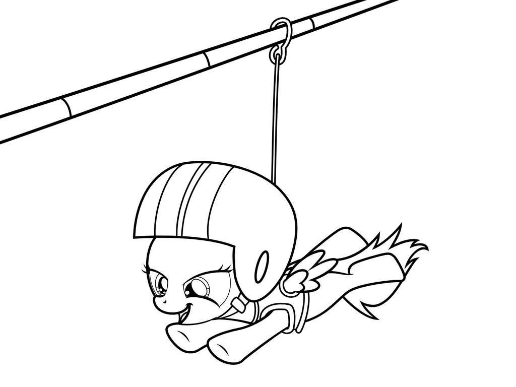 D Line Drawings Zip File : Mlp coloring page zipline by scienceisanart on deviantart