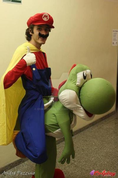 Mario Riding Yoshi Cosplay By Osmariobro On Deviantart