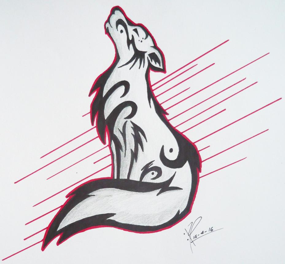 Tribal Wolf Wallpaper: Tribal Wolf By MisteremeM On DeviantArt