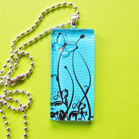 Blue Butterfly waves necklace by AngelElementsEtsy