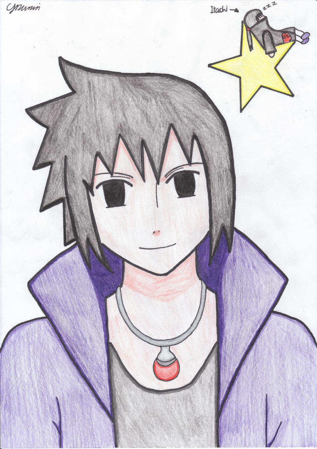 Sasuke RTN Coloured by Purewhitedevil