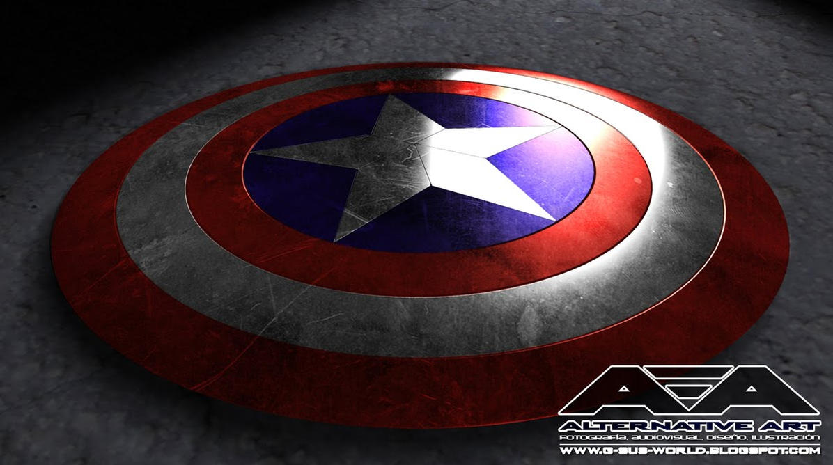 Captain America Shield Drawing: Captain America Shield By Neounicron On DeviantArt