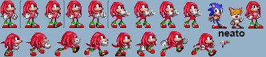 Sonic 2 style Knuckles minisheet