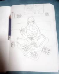 Sketch #4 My Night by deadly-doll-studios