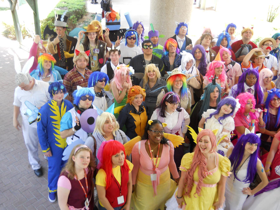 A-kon  23 MLP photoshoot : Group shot 01 by SilverMousyPie