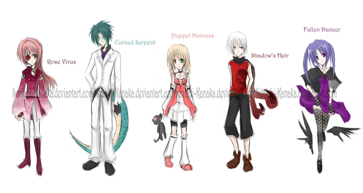 Character Design Sheet One by Senichi-Kanako