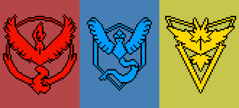 Pokemon Go Team Logos Images