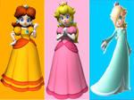 Peach Daisy and Rosalina bg