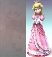 Peach Comparison: Fan Art to Original by 5DsPeach