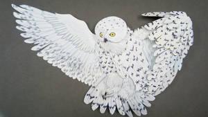 Owl 3d art piece part 6 Completed