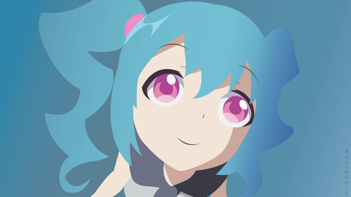 The Throwaway Cute Girl(Vector Wallpaper) by DaxterYx12